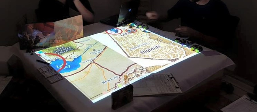 Our First Test of a Low-Cost, Home-Built Projected Table-Top – Many